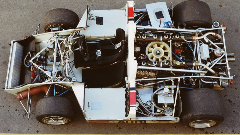 A Porsche photo of a different 917/10 chassis.
