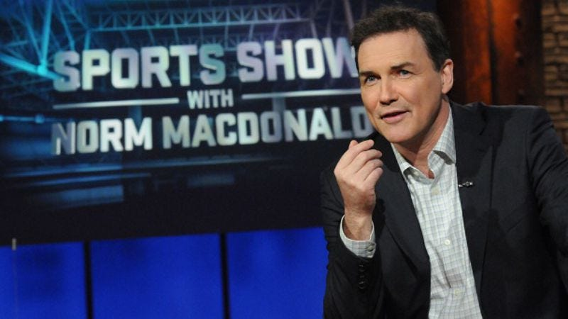 Illustration for article titled Sports Show With Norm Macdonald