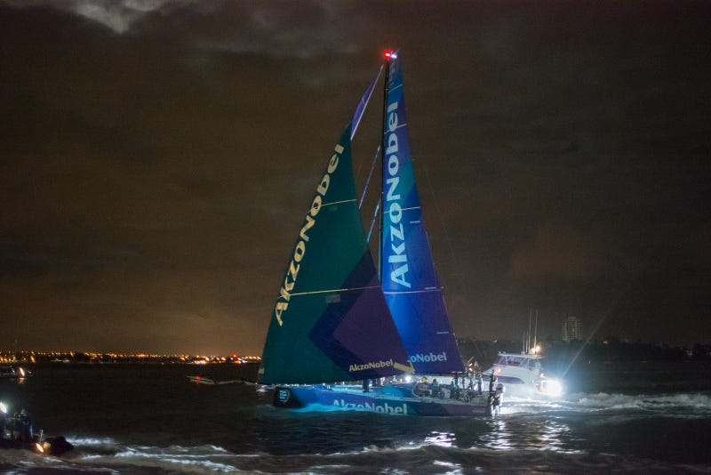 Illustration for article titled Volvo Ocean Race fans? Auckland arrival pics inside