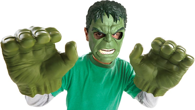Illustration for article titled Hasbro's New Flexible Foam Hulk Hands Now Let You Smash and Squeeze