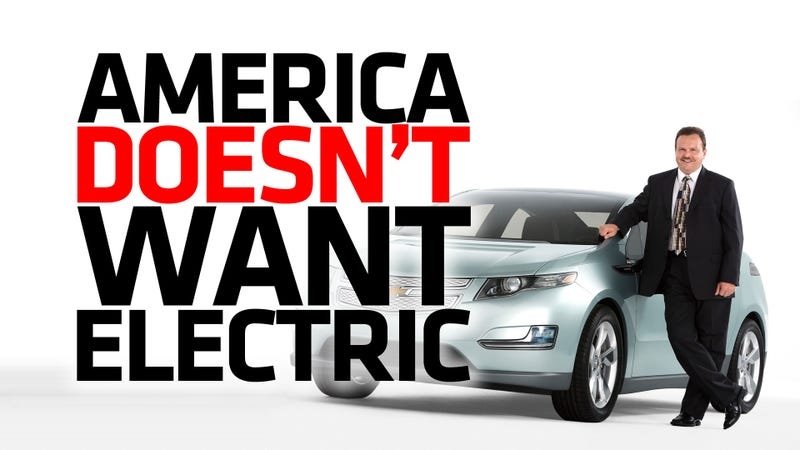 Illustration for article titled You Are Not Alone. America Hates Electric Cars [Updated]