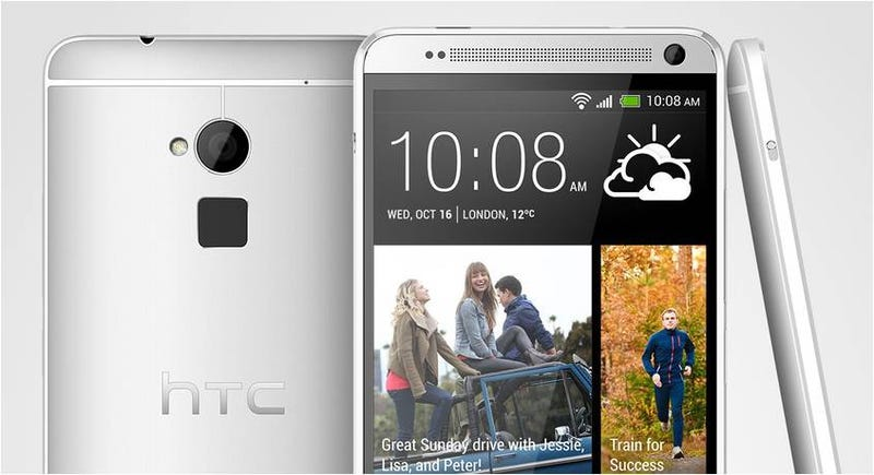 Illustration for article titled Es oficial: así es el HTC One Max de 5,9 pulgadas y lector de huellas