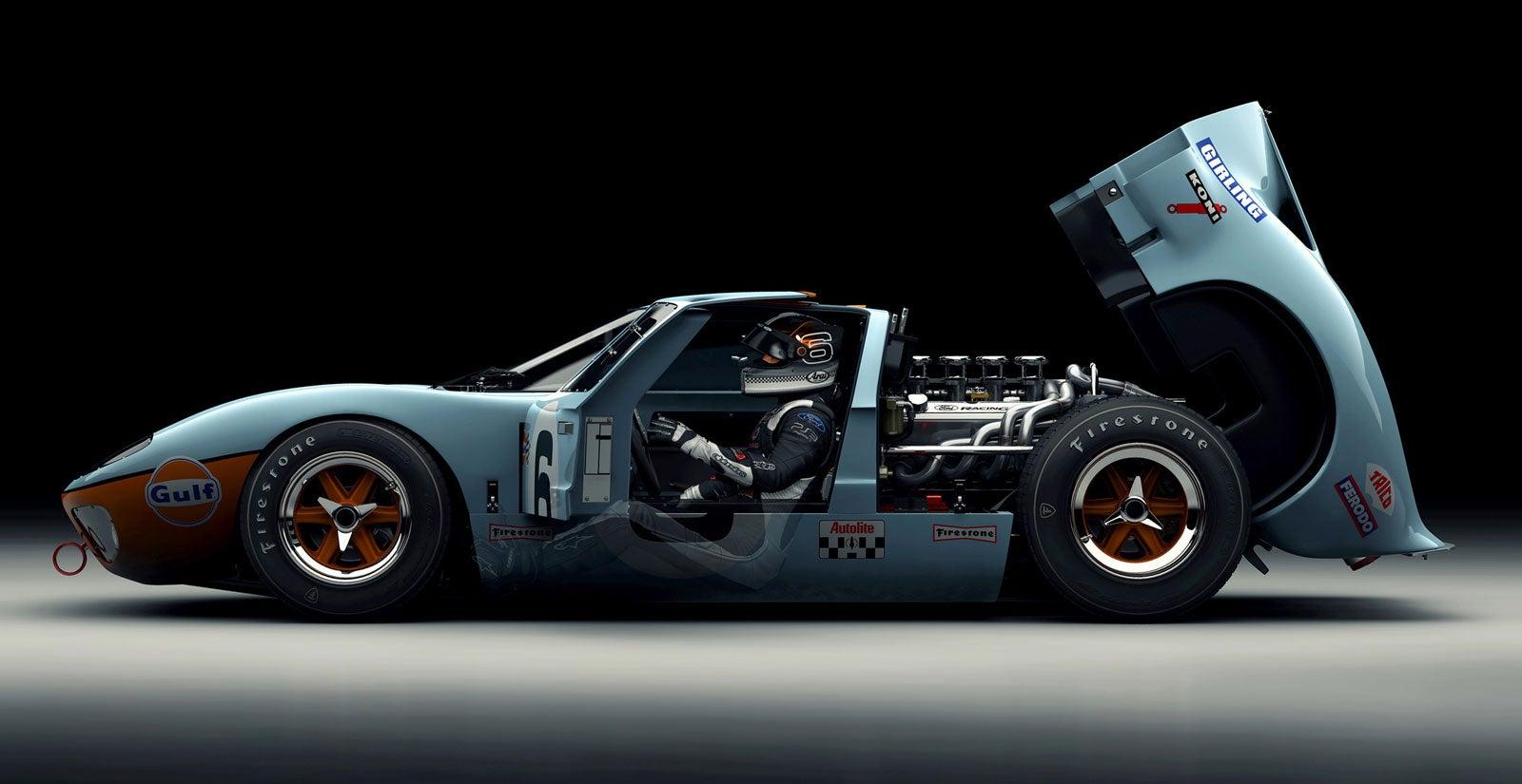 A ford gt40 render so beautiful it 39 ll make you dream in pixels for Garage n4 auto duppigheim
