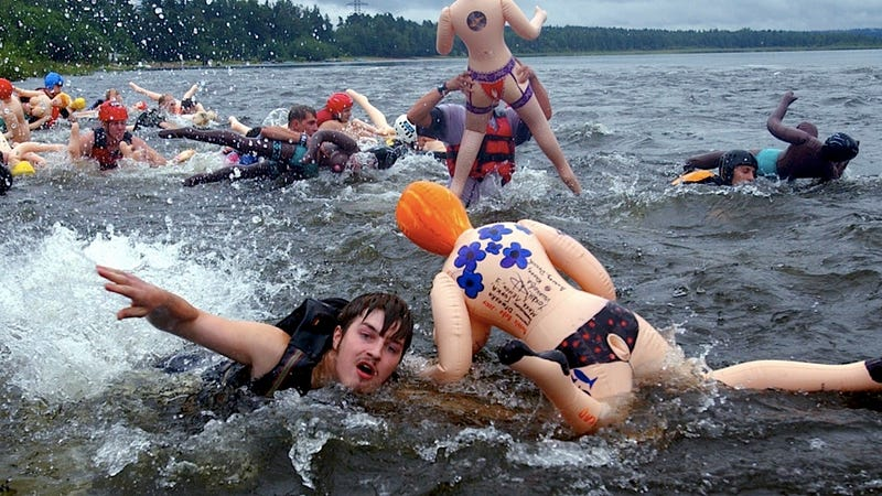 Illustration for article titled Russian Officials Ruin Everyone's Fun By Cancelling Sex Doll Rafting Race