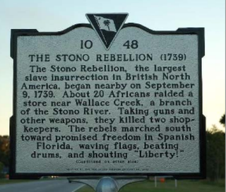South Carolina's historic marker to commemorate the Stono River Slave Rebellionnationalhumanitiescenter.org