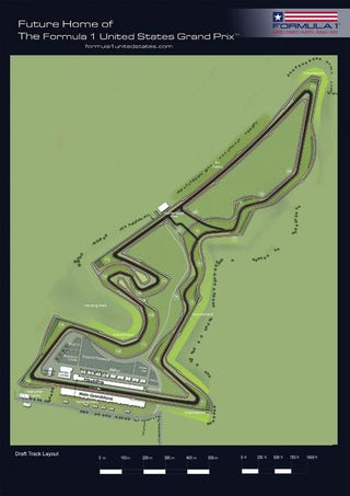 Illustration for article titled This Is Austin's Bong-Shaped U.S. Grand Prix Formula 1 Track