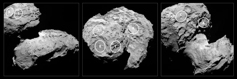 Illustration for article titled This Is Where Rosetta's Lander May Touch Down on Its Comet