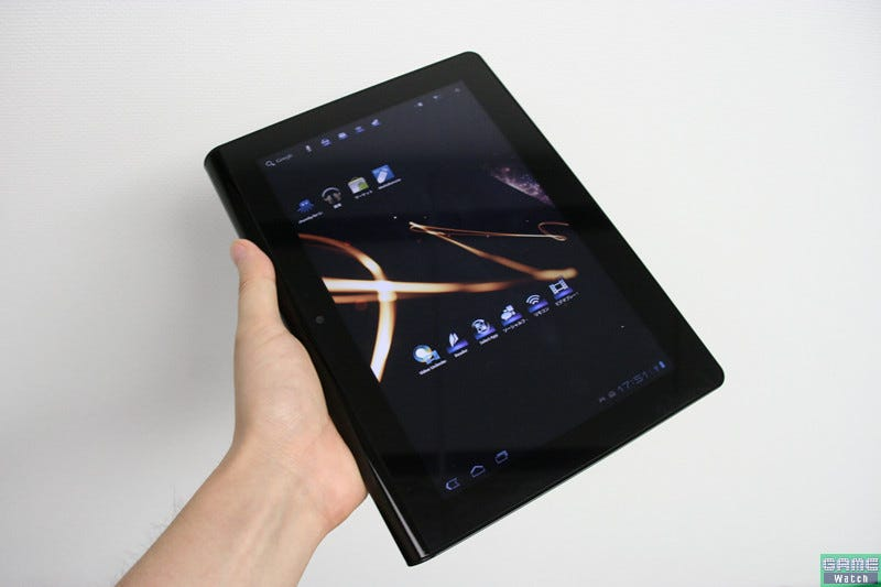 Illustration for article titled Manhandling the Sony Tablet and Explaining Its Fake Buttons