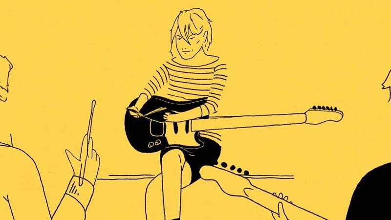 Illustration for article titled Kim Gordon talks about her early life and inspirations in an animated interview