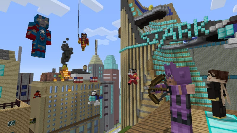 Illustration for article titled The Avengers Are Assembling in Minecraft: Xbox 360 Edition [Update]
