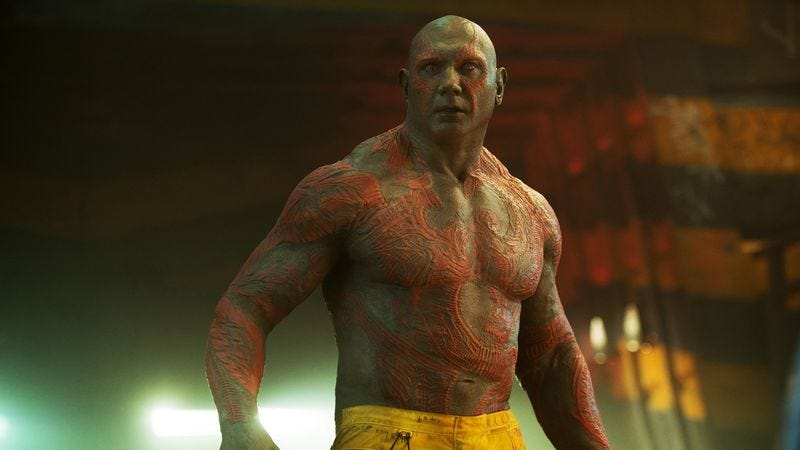 Dave Bautista as Drax in Guardians Of The Galaxy