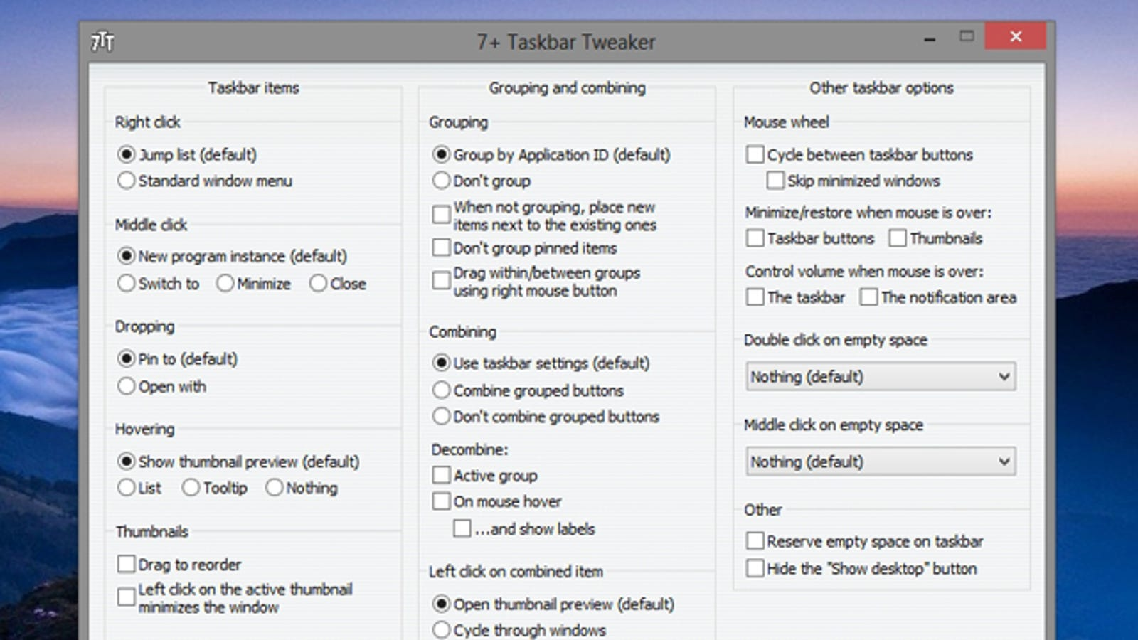 7+ Taskbar Tweaker Adds Tons of Extra Taskbar Settings to