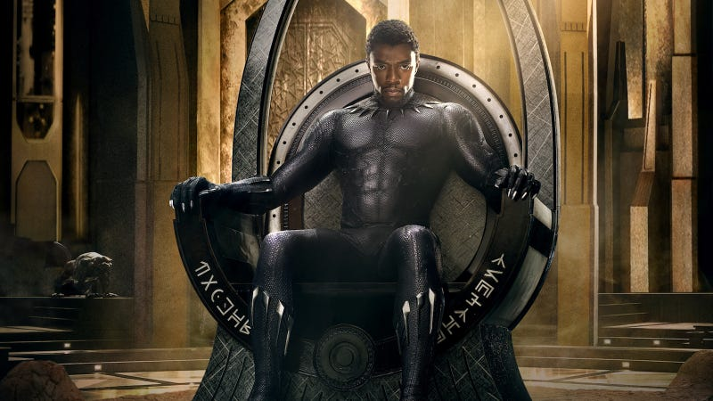 Illustration for article titled The First Black Panther Poster Is Appropriately Badass