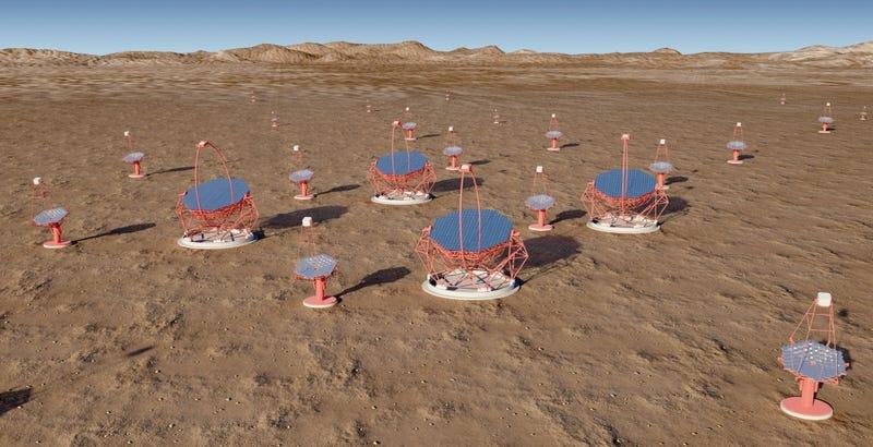 Illustration for article titled España y Chile acogerán los mayores telescopios de rayos gamma del mundo