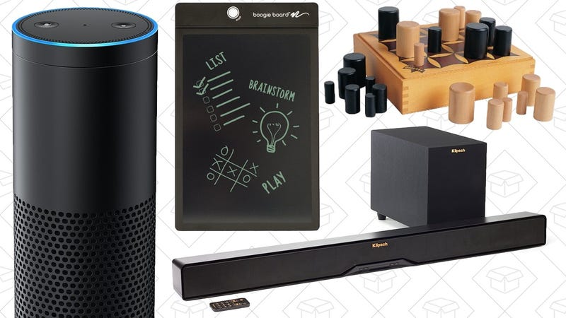 Illustration for article titled Today's Best Deals: PC Accessories, Klipsch Sound Bar, Amazon Echo, and More