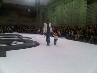 Illustration for article titled Male Model Walks Chanel Runway With His Young Son; World Swoons