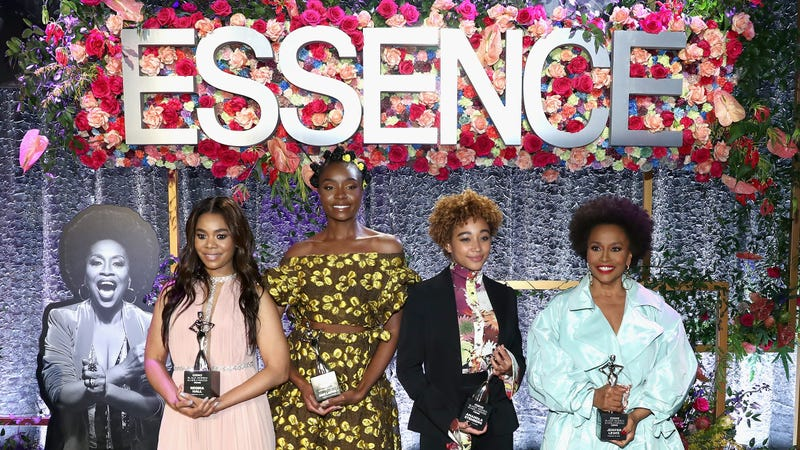 (L-R) Honorees Regina Hall, KiKi Layne, Amandla Stenberg, and Jenifer Lewis attend the 2019 Essence Black Women in Hollywood Awards Luncheon at Regent Beverly Wilshire Hotel on February 21, 2019 in Los Angeles, California.
