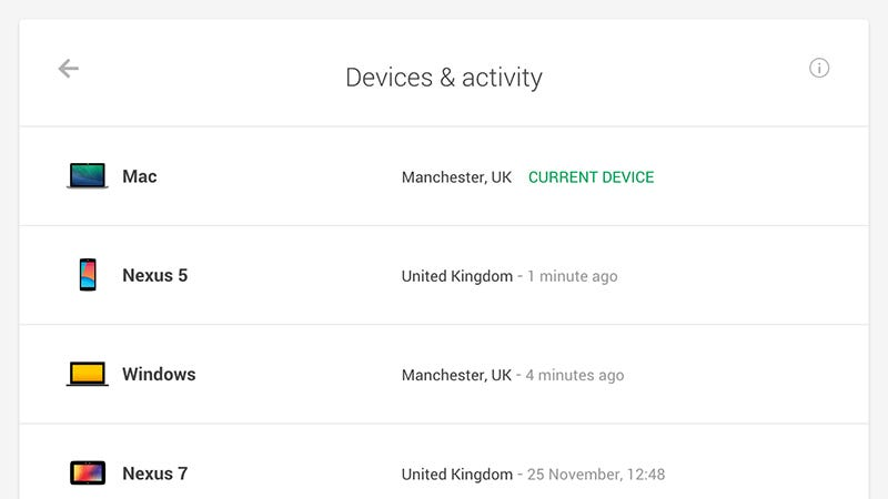 Illustration for article titled See What Devices Are Signed Into Your Google Account With This Dashboard