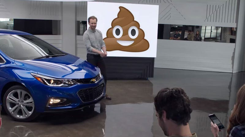 Illustration for article titled This Emoji-Based Ad For The Chevy Cruze Confirms That Chevy Thinks You're A Moron