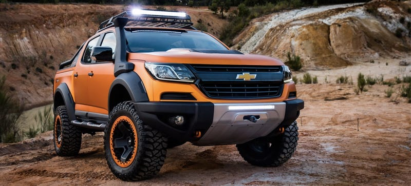 here 39 s a chevy colorado with every imaginable off road appurtenance. Black Bedroom Furniture Sets. Home Design Ideas