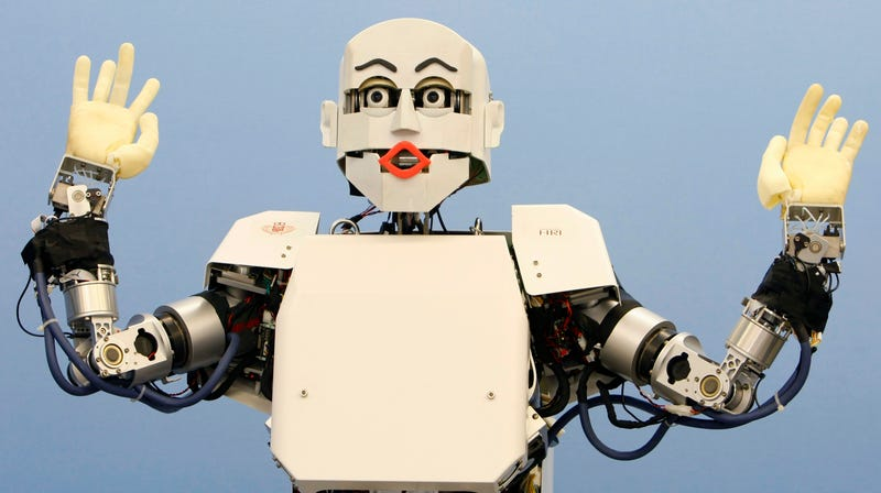 Well... maybe not this robot (Waseda University's KOIBAN, seen here in 2009).