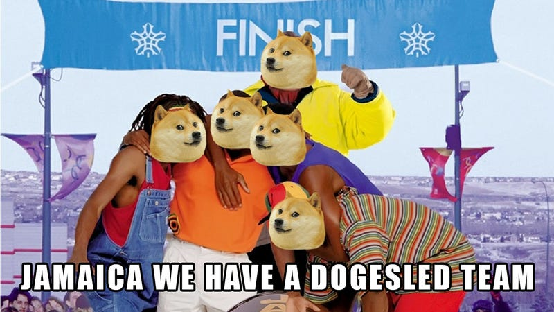 Illustration for article titled Jamaican Bobsled Team Boosts Dogecoin's Exchange Rate by 50 Percent
