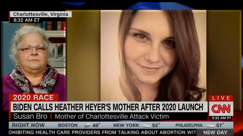 Illustration for article titled Heather Heyer's Mother Had No Idea Her Daughter Would Be Part of Joe Biden's Campaign Ad