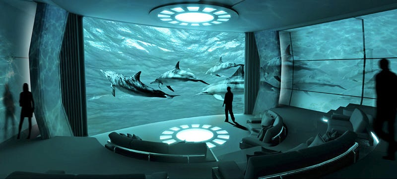 Illustration for article titled A New Obscene Superyacht Is Getting Its Own Private IMAX Theater