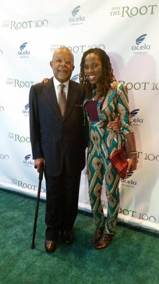 Editor-in-Chief of The Root Henry Louis Gates Jr. and The Root 100 honoree Luvvie AjayiLuvvie Ajayi via Instagram