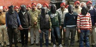Gang-rape suspects in Punjab, India (Strdel/AFP/Getty Images)