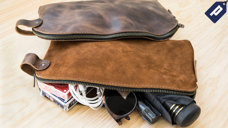 Illustration for article titled Store Your Gear In This Leather, All-Purpose Utility Bag for 50% Off