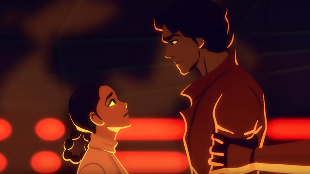 Leia s Rescue of Han is Just as Romantic in Animation