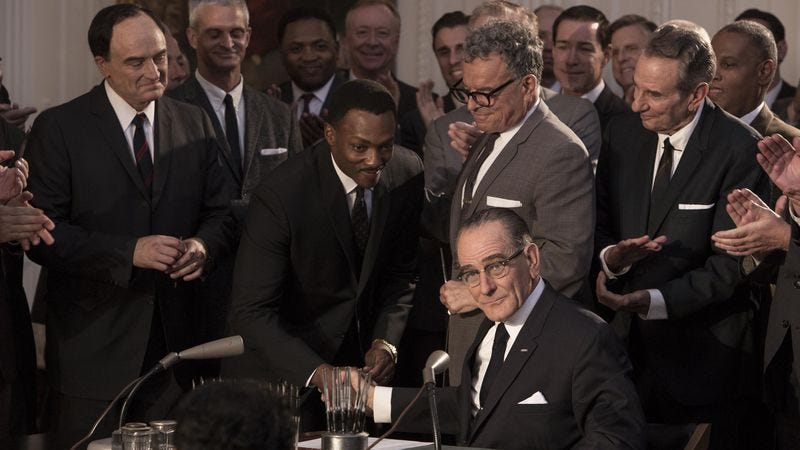 l-r: Bradley Whitford, Anthony Mackie, Ray Wise, Bryan Cranston (HBO)