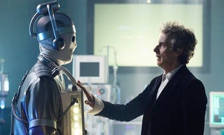 Spare part surgery! The Doctor meets a newly minted Cyberman.