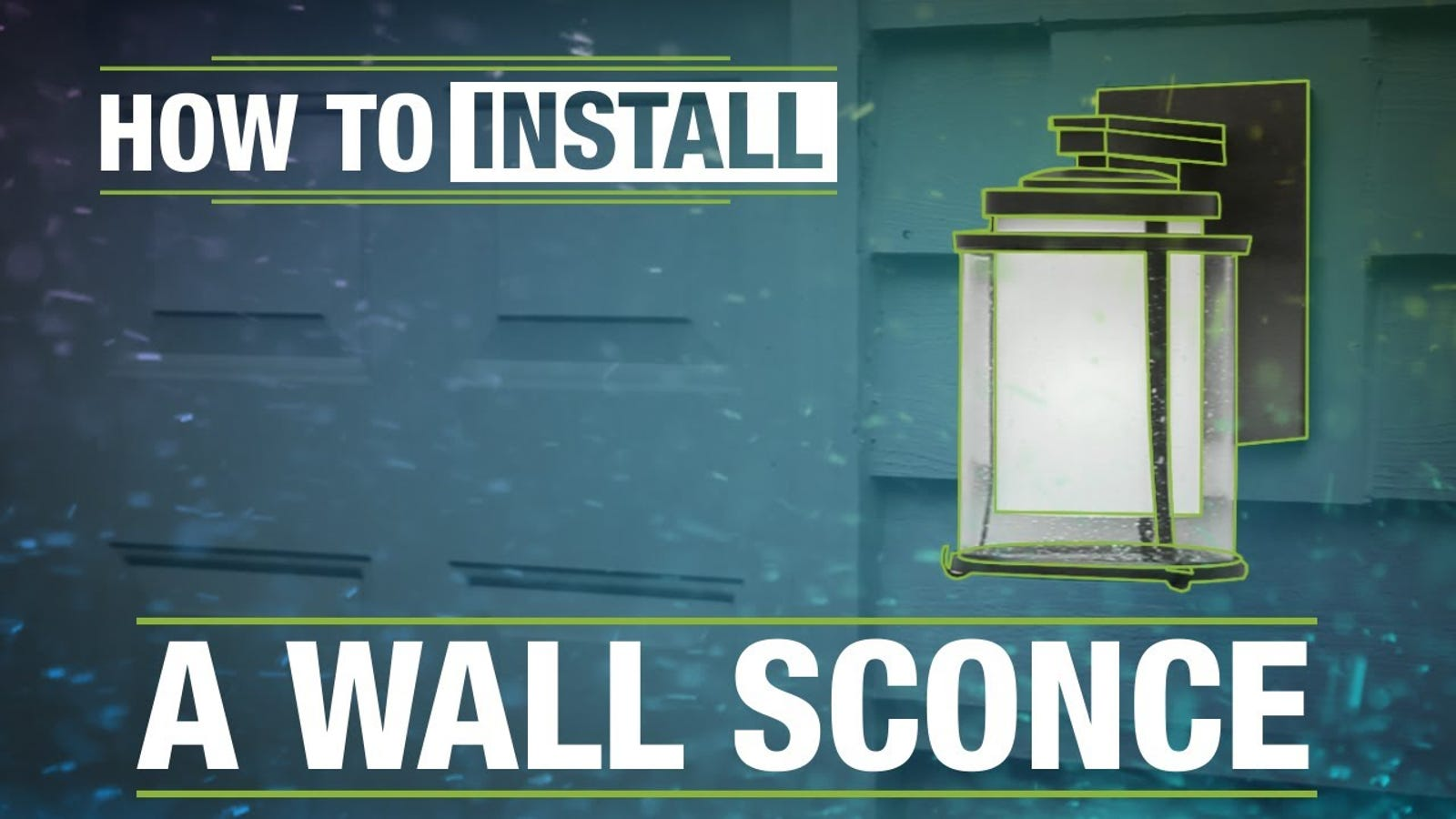 Replace Your Front Entry Wall Sconce For A Stylish Upgrade Hard Wiring Sconces