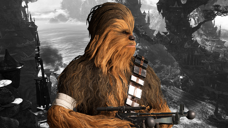 Illustration for article titled Star Wars Battlefront II Players And Developers Pay Tribute To Chewbacca Actor Peter Mayhew