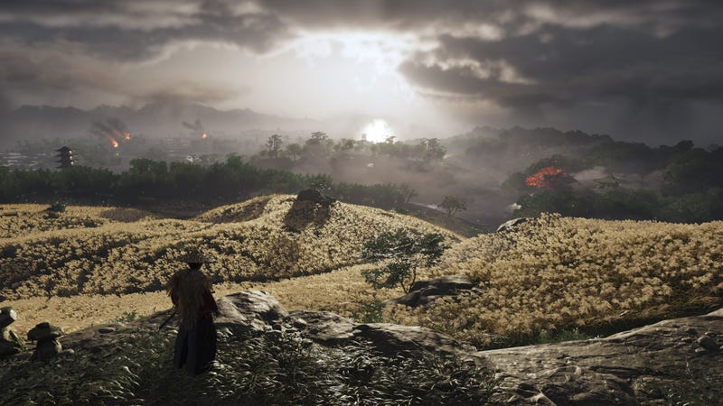 Ghost Of Tsushima developer Nate Fox said the game's whole E3 demo was built around the mood of this vista.