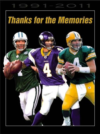 Illustration for article titled Favre's Retirement Is Real This Time, Because He's Already Selling Memorabilia