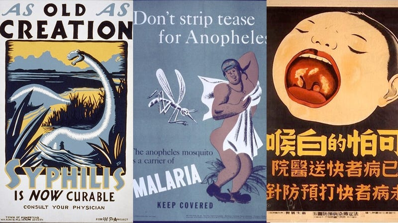 Illustration for article titled Vintage Public Health Posters Show Just How Creepy The 20th Century Was