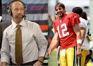Illustration for article titled Aaron Rodgers Enjoys Low-Hanging Fruit, Blasts Tony Kornheiser