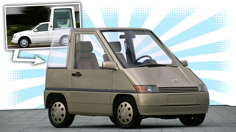 Illustration for article titled Mercedes' Vision Of A City Car Was Once A Microscopic Popemobile