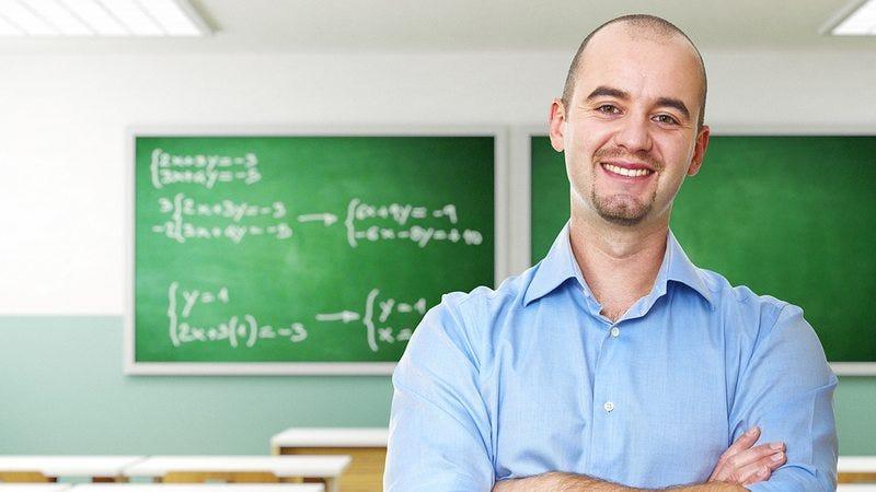 An average looking teacher.