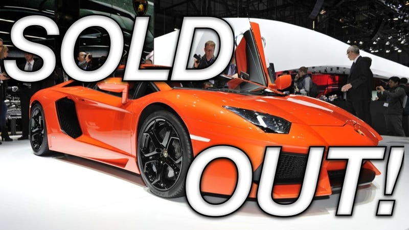Illustration for article titled Ferrari FF, Lamborghini Aventador sold out for first production year