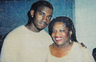 Kanye West and his mother, Donda WestTwitter