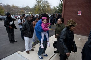 Voters on Election Day in Kansas City, Missouri (Julie Denesha/Getty Images)