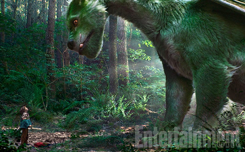 Illustration for article titled Here's Our First Good Look at the Furry Dragon of Pete's Dragon