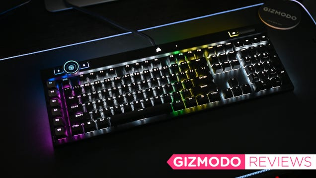 Corsair s Pricey K100 RGB Looks and Feels Like Lightning in a Bottle