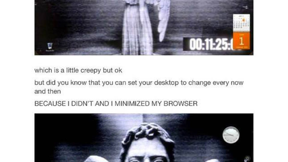 Put This Weeping Angel Wallpaper On Your Desktop And Terrify Everyone