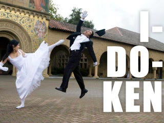 Illustration for article titled The Best (Fake) Video Game Wedding Picture Ever?