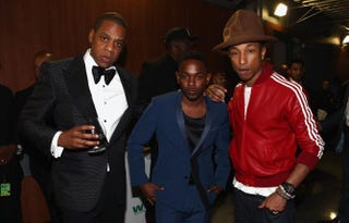 Jay Z, Kendrick Lamar and Pharrell Williams (and Pharrell's hat)Christopher Polk/Getty Images